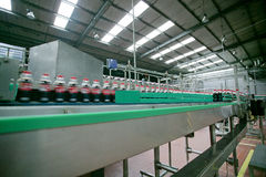 Manufacturing industry. Beverage Industry ,manufacturing industry water Stock Images
