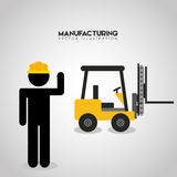 Manufacturing industry design. Illustration eps10 graphic stock illustration