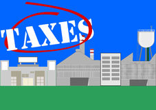 Manufacturing industry taxes. Royalty Free Stock Images