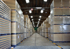 Manufacturing inventory warehouse. After production Stock Photos