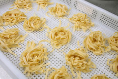 Manufacturing Italian Pasta Royalty Free Stock Images