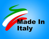 Manufacturing Italy Means Commerce Purchase And Business Stock Images