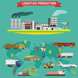 Manufacturing and logistics goods Royalty Free Stock Images