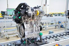 Manufacturing of the new engines Royalty Free Stock Photo