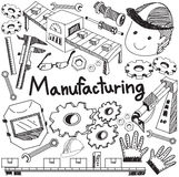 Manufacturing and operation system in factory production assembl Royalty Free Stock Photo