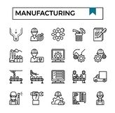 Manufacturing outline design icon set. Manufacturing outline design icon set for presentation, business project, industry website etc vector illustration
