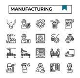 Manufacturing outline design icon set. Manufacturing outline design icon set for presentation, business project, industry website etc vector illustration