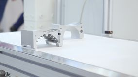 Manufacturing parts for engine. Media. Details production line. High-tech precision parts forming line.  stock footage