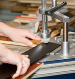 Manufacturing of a picture frame Stock Images
