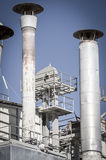Manufacturing, pipelines and towers, heavy industry overview Stock Photography