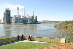 Manufacturing Plant. A senic view of a manufacturing plant on river Stock Photography