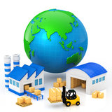 Manufacturing plant. Image of manufacturing plant Stock Photo