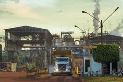 Manufacturing Plant. Mato Grosso, Brazil, April 10, 2008. Ethanol Manufacturing Plant in Brazil Royalty Free Stock Image