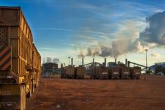 Manufacturing Plant. Mato Grosso, Brazil, April 10, 2008. Sugar and ethanol Manufacturing Plant in Brazil Stock Photos