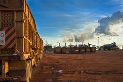 Manufacturing Plant. Mato Grosso, Brazil, April 10, 2008. Sugar and Ethanol Manufacturing Plant in Brazil Stock Photo