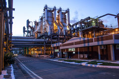 Manufacturing Plant. Mato Grosso, Brazil, April 10, 2008. Sugar and Ethanol Manufacturing Plant at night in Brazil Royalty Free Stock Image