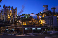 Manufacturing Plant. Mato Grosso, Brazil, April 10, 2008. Sugar and Ethanol Manufacturing Plant at night in Brazil Royalty Free Stock Photography