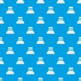 Manufacturing plant pattern seamless blue Royalty Free Stock Photo