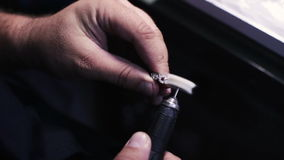 Manufacturing of precious products. Polishing stock video footage