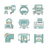 Manufacturing Process Icons Royalty Free Stock Image