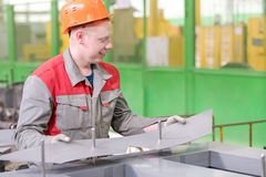 Manufacturing process power transformer construction Stock Photo