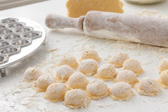 Manufacturing process Russian dumplings Stock Photography