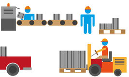 Manufacturing process stock illustration