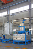 Manufacturing production line filling equipment Stock Images