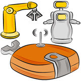 Manufacturing Robots Royalty Free Stock Photography