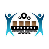 Manufacturing Team Icon vector illustration