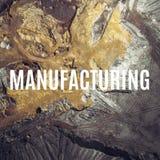 manufacturing Vista aerea sopra il processin dei materiali da costruzione immagini stock