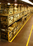 Manufacturing Warehouse. Crated parts await assembly in a factory warehouse Stock Images