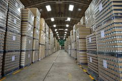 Manufacturing warehouse Royalty Free Stock Image