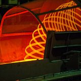 Manufacturing Wire Steel Works. Iron and Steel Metallurgical Plant. royalty free stock photos