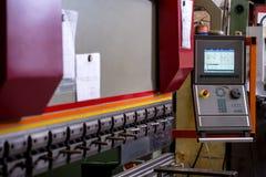 Manufacturing workshop. Image of bending machine Royalty Free Stock Images