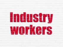 Manufacuring begrepp: Branscharbetare på väggbakgrund Royaltyfria Foton