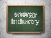 Manufacuring begrepp: Energibransch på svart tavlabakgrund stock illustrationer