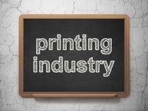 Manufacuring begrepp: Printingbransch på svart tavlabakgrund Fotografering för Bildbyråer