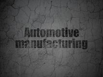Manufacuring concept: Automotive Manufacturing on grunge wall background Royalty Free Stock Photos