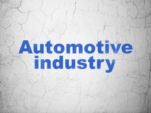 Manufacuring concept: Automotive Industry on wall background. Manufacuring concept: Blue Automotive Industry on textured concrete wall background royalty free illustration