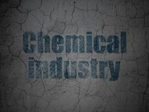 Manufacuring concept: Chemical Industry on grunge wall background. Manufacuring concept: Blue Chemical Industry on grunge textured concrete wall background royalty free illustration
