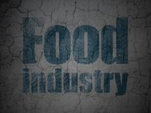 Manufacuring concept: Food Industry on grunge wall background. Manufacuring concept: Blue Food Industry on grunge textured concrete wall background vector illustration