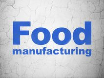 Manufacuring concept: Food Manufacturing on wall background Stock Photography