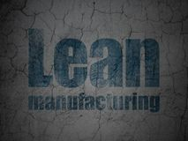 Manufacuring concept: Lean Manufacturing on grunge wall background Stock Photography