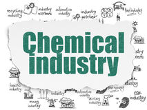 Manufacuring concept: Chemical Industry on Torn Paper background Royalty Free Stock Photos