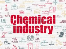 Manufacuring concept: Chemical Industry on wall background Royalty Free Stock Photo