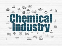 Manufacuring concept: Chemical Industry on wall background Stock Images