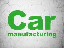 Manufacuring concept: Car Manufacturing on wall background Royalty Free Stock Photos