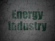 Manufacuring concept: Energy Industry on grunge wall background. Manufacuring concept: Green Energy Industry on grunge textured concrete wall background royalty free illustration
