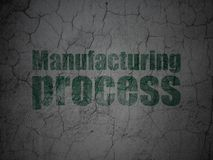 Manufacuring concept: Manufacturing Process on grunge wall background. Manufacuring concept: Green Manufacturing Process on grunge textured concrete wall Stock Photos